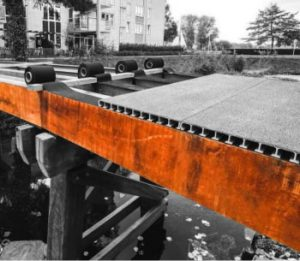 GRP bridge decking planks